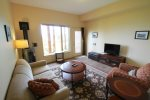 In the lower level you will find the family room- a great place to hang out and watch TV or play a game.
